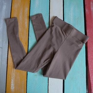 Forever 21 brown taupe leggings NWT small